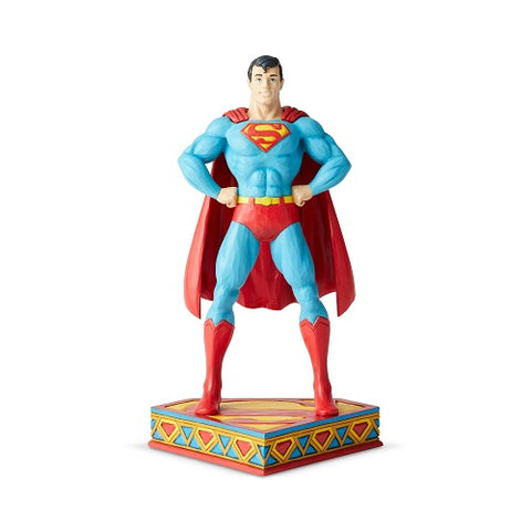 "Jim Shore Superman Silver Age ""Man of Steel"" Figurine"