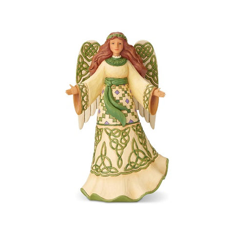 "Jim Shore ""Miracles From Moors To Mountains"" Irish Angel with Celtic Dress"