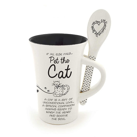 Cat Mug and Spoon set Children of the Inner Light