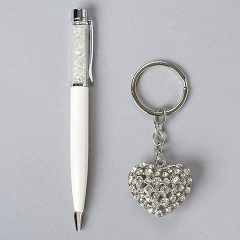 "2""H Pen & Heart Key chain Set - Ria's Hallmark & Jewelry Boutique"