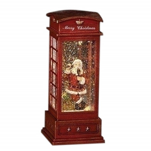 Roman LED with Fan Swirl Confetti Phone Booth With Santa
