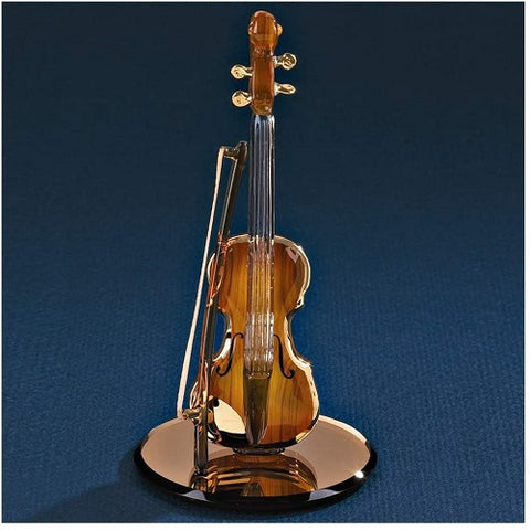 Glass Baron Gold Violin Figurine