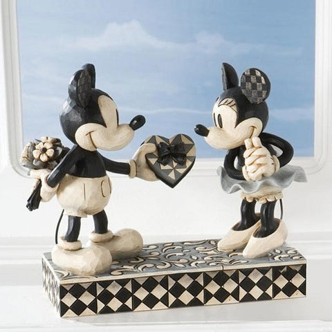 Disney Traditions Mickey and Minnie Mouse Real Sweetheart by Jim Shore - Ria's Hallmark & Jewelry Boutique