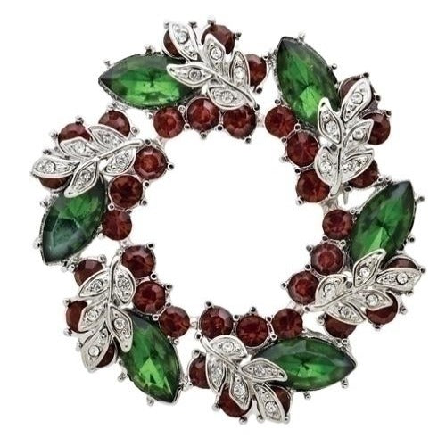 Roman Christmas Wreath Story Pin, 2""
