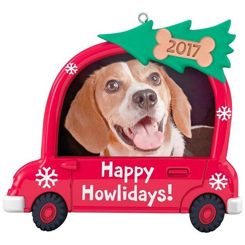 Happy Howlidays! Dog Picture Frame Ornament - Ria's Hallmark & Jewelry Boutique