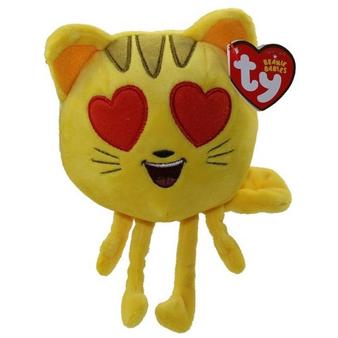 TY Beanie Baby - The Emoji Movie - CAT HEART EYE