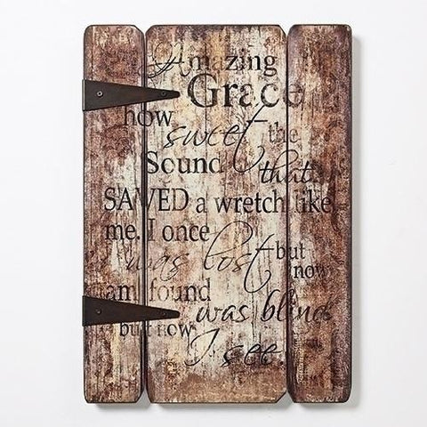 Amazing Grace Wall Plaque Decor