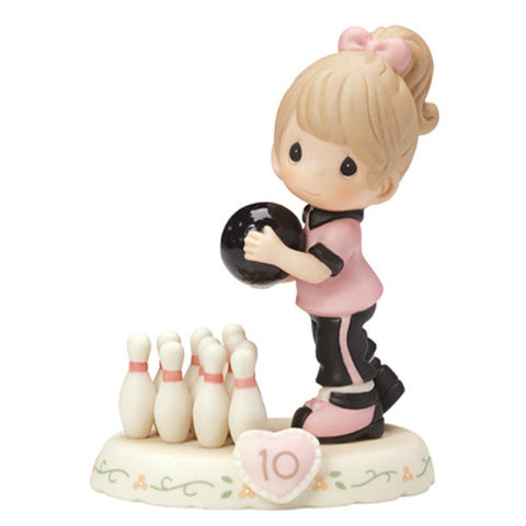 Precious Moments Growing In Grace Age 10 Brunette Girl Figurine - Ria's Hallmark & Jewelry Boutique