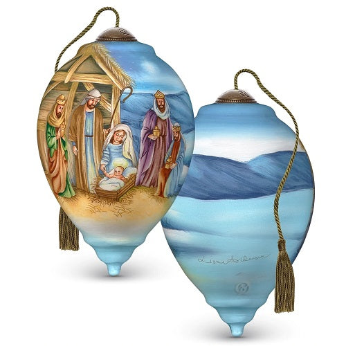 Ne'Qwa Art A Child Is Born, Hand-Painted Glass Ornament