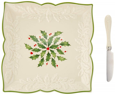 Hosting the Holiday 3-piece Carved Napkin Tray Set by Lenox