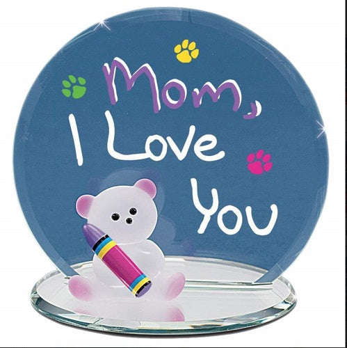 "Glass Baron ""Mom, I Love You"" Bear"