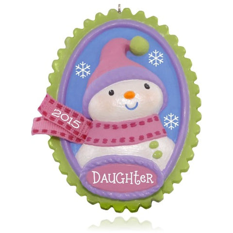 2015 hallmark Oh-Snow-Sweet Daughter Snowman