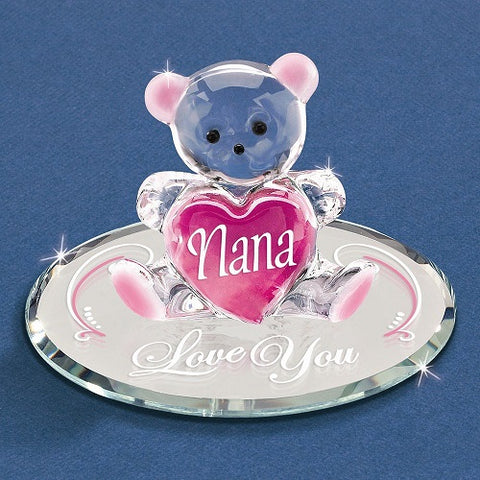 "Glass Baron ""Nana, I Love You"" Bear Pink"