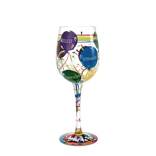 Lolita Wine Glass Aged to Perfection - Ria's Hallmark & Jewelry Boutique