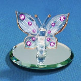 GLASS BARON BUTTERFLY, PINK CRYSTALS - Ria's Hallmark & Jewelry Boutique