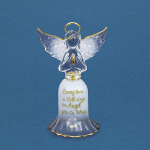 Glass Baron Angel Bell