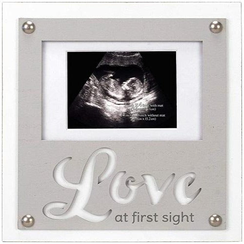 Malden Grey Love at First Sight Sonogram Laser Cut Frame