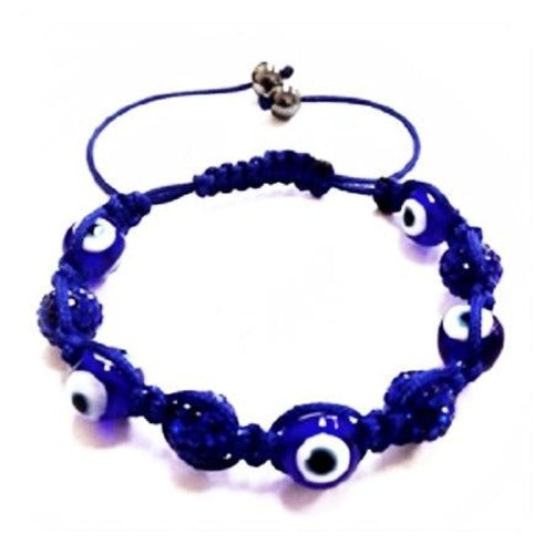 Blue Evil Eye Shamballa Bracelet - Ria's Hallmark & Jewelry Boutique
