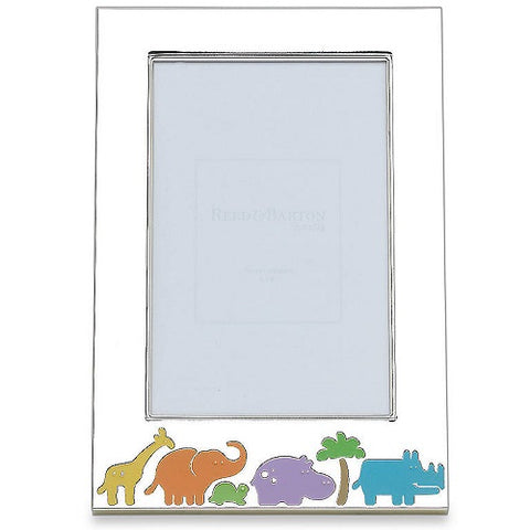 "Jungle Parade Silverplate 4"" x 6"" Photo Frame by Reed & Barton"