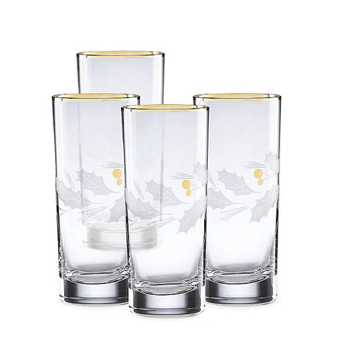 Holiday™ Gold 4-piece Highball Glass Set