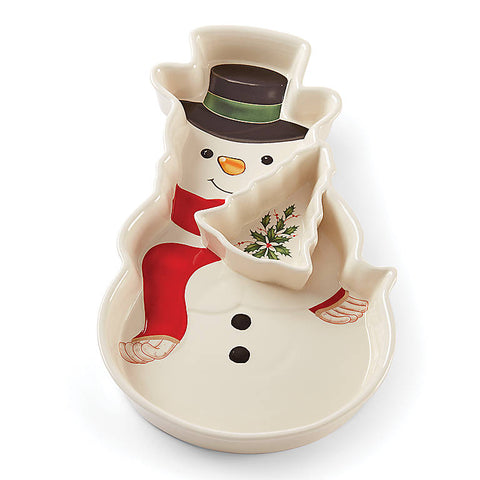Holiday™ Entertaining Snowman Chip & Dip