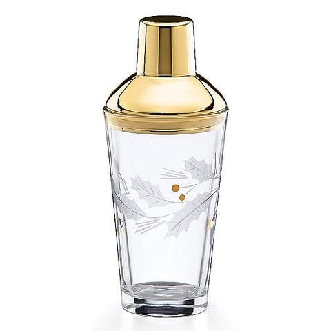 Holiday™ Gold Metal Cocktail Shaker by Lenox