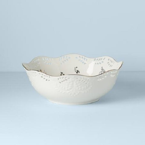 Opal Innocence Flourish Large Serving Bowl by Lenox
