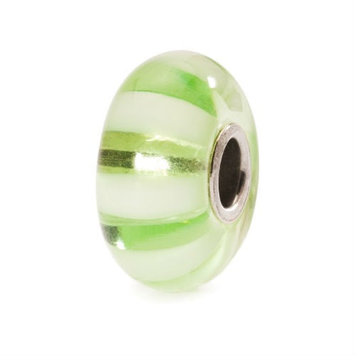 Trollbeads Light Green Stripe Bead