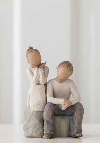 Willow Tree Brother and Sister Figurine - Ria's Hallmark & Jewelry Boutique