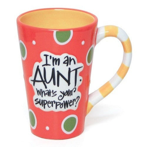 I'm An Aunt. What's Your Superpower Mug - Ria's Hallmark & Jewelry Boutique
