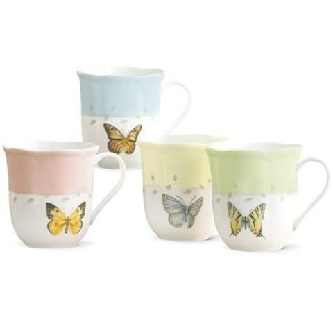 LENOX Butterfly Meadow 4-piece Mug Set - Ria's Hallmark & Jewelry Boutique