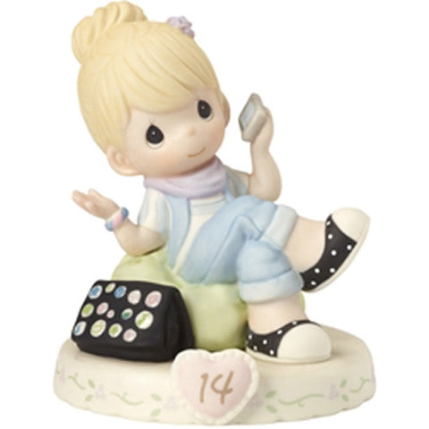 Precious Moments Growing In Grace Age 14 Blonde Figurine