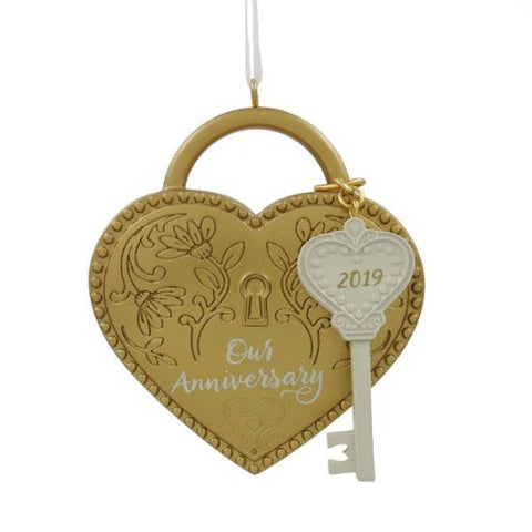 Hallmark  Dated 2019 Our Anniversary Tree Trimmer Ornament