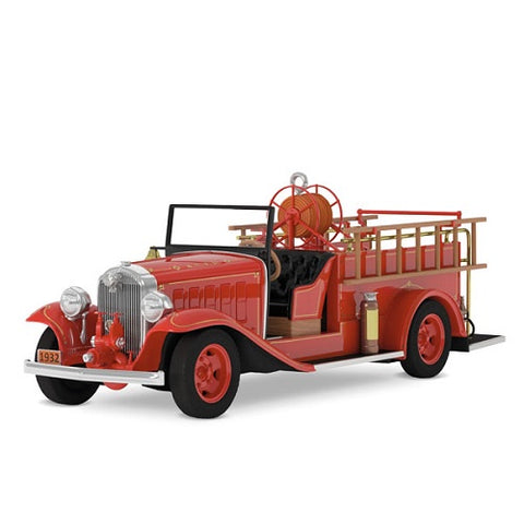 Fire Brigade 1932 Buick® Fire Engine Ornament With Light