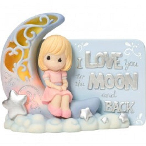 Precious Moments To the Moon and Back LED Figurine - Ria's Hallmark & Jewelry Boutique