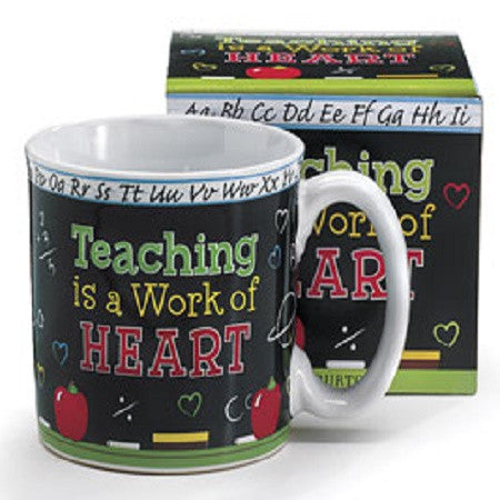 Burton & Burton Teaching is a Work of Heart Mug - Ria's Hallmark & Jewelry Boutique