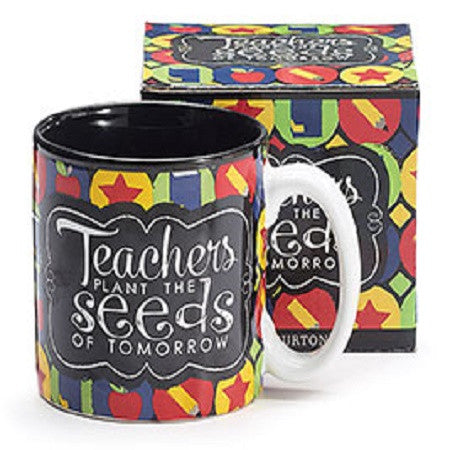 Burton & Burton Teachers Plant The Seeds of Tomorrow Mug - Ria's Hallmark & Jewelry Boutique
