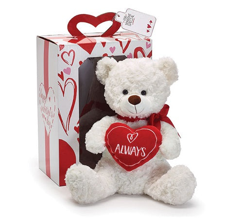 Plush Always Valentine Bear In Box