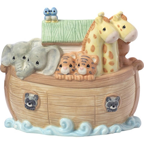 """Overflowing With Love"" Noah's Ark Porcelain Bank"