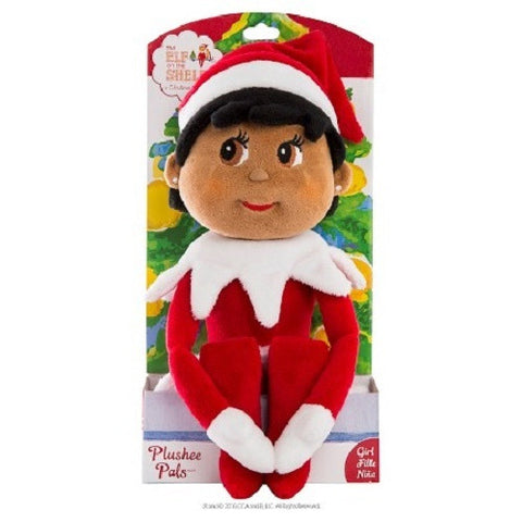 Elf on the Shelf Plushee Pals Girl - Dark - Ria's Hallmark & Jewelry Boutique