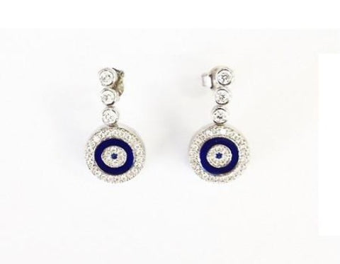 Sterling Silver Evil Eye Earring Stud - Ria's Hallmark & Jewelry Boutique