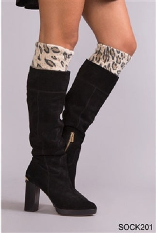 Simply Noelle On The Wild Side Tall Socks