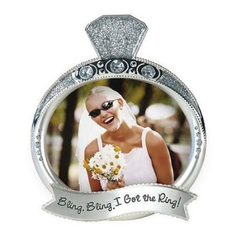 "Malden Bling Bling Ring 4"" x 3 3/8"" Photo Frame - Ria's Hallmark & Jewelry Boutique"
