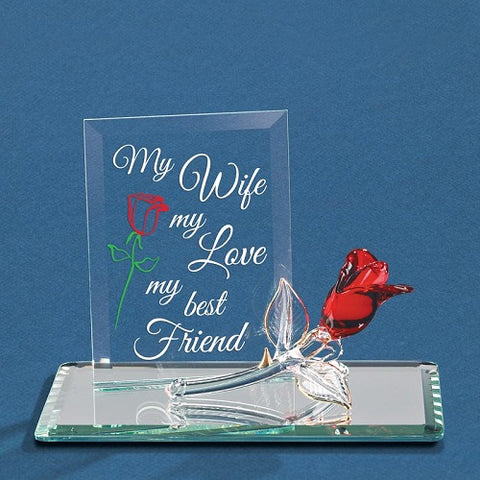 Glass Baron My Wife, My Best Friend Plaque