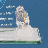 "Glass Baron Prayer ""Where Hope is Lifted"" Figurine"