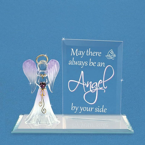 "Glass Baron ""Angel By Your Side"" Angel Figurine"