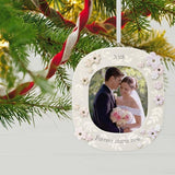 Forever Starts Now Wedding 2018 Porcelain Photo Ornament
