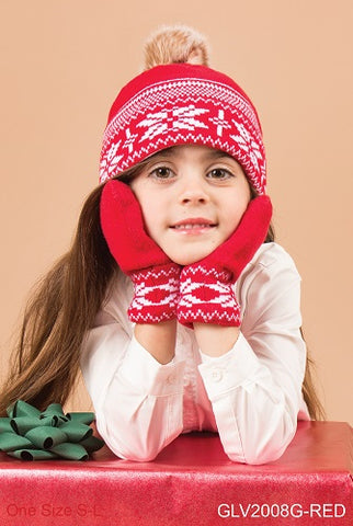 Snow It All Mittens - Girl Red