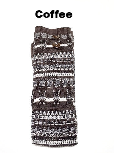 WB Tall Aztec Button Sock - Ria's Hallmark & Jewelry Boutique - 2