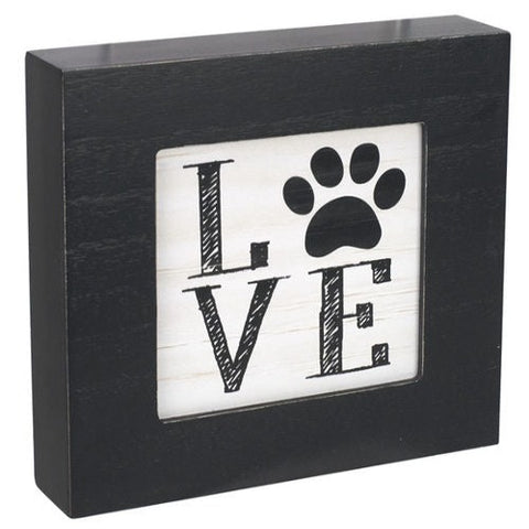"Malden International Designs ""Love"" Paw Decorative Plaque"